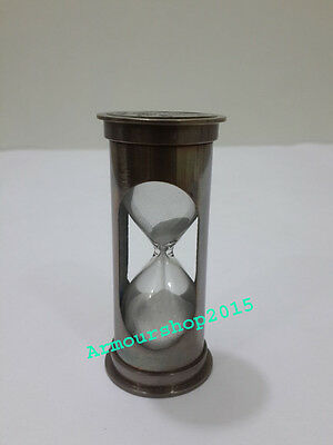 Marine Hourglass Antique Nautical Brass Sand Timer Collectible Decor