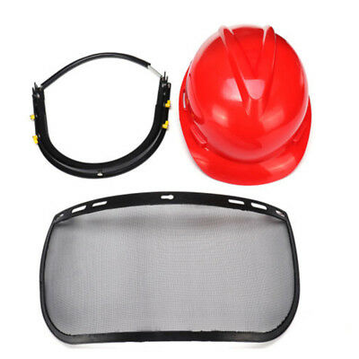 Mesh Safety Face Shield Hat Chainsaw Protective Helmet Visor Brushcutter