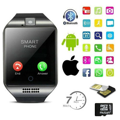 Smart Watch Smartwatch Bluetooth Waterproof Touchscreen Phone with Camera TF/SIM