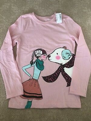 NWT Childrens Place Girls Pink Long Sleeve Tee Size M (7/8)