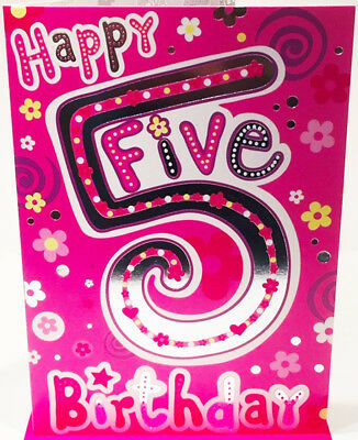 Happy 5th Birthday Card For A Girl 7 5 X 5 25 Inches