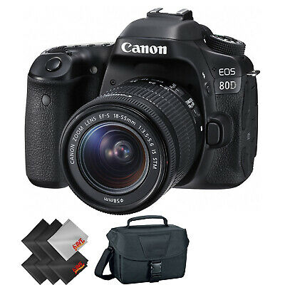 Canon EOS 80D DSLR Camera with 18-55mm Lens + 1 Year Warranty