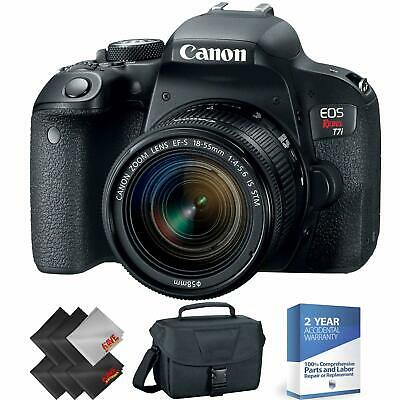 Canon EOS Rebel T7i DSLR Camera with 18-55mm Lens + 2 Year Accidental Warranty