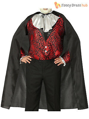 Adults Black Cape Mens Ladies Vampire Halloween Dracula Fancy Dress Accessory