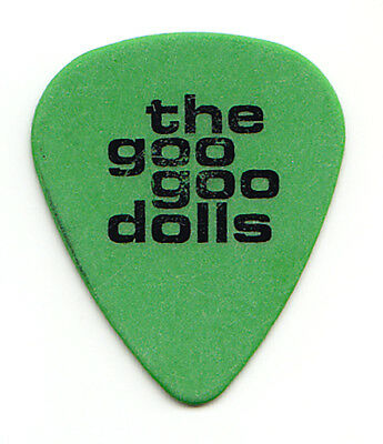 Goo Goo Dolls John Rzeznik Green Guitar Pick - 1999 Dizzy Up The Girl Tour