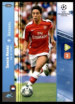 ARSENAL No 146 Panini Champions League 08//09 Carte-SAMIR NASRI