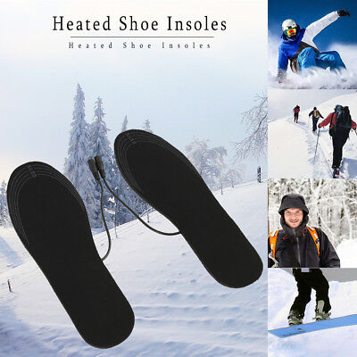 Rechargeable Heated Shoe Insoles Boot Warm Socks Pad Heater USB Charging Winter