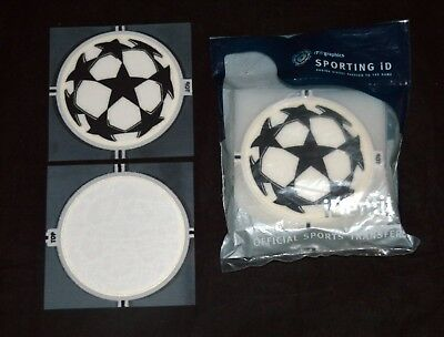 Official Champions League Lextra 06/08 Football Shirt Badge Starball Sporting ID