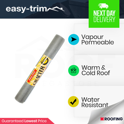 Easy-Trim Grafter Breather Membrane   Breathable Roofing Felt 1m x 20m 100gsm