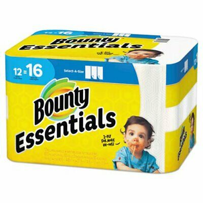 Bounty Essentials Select-A-Size Paper Towels, 2-Ply, 12 Rolls (PGC74682)