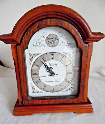 Acctim Classic Mantel Clock - wood surround - no chimes but keeps excellent time