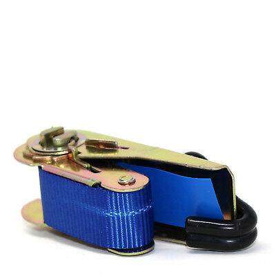 HEAVY DUTY RATCHET TIE DOWN STRAP 4M x 25MM WITH CHASSIS HOOK TIE DOWN STRAPS