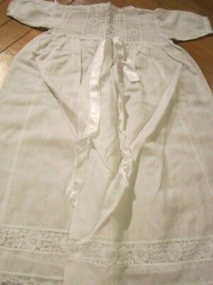 Vintage Victorian Antique Palatine Child's Christening Gown Dress Dolls 9