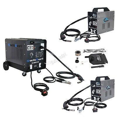 SwitZer Portable Gasless Welder Welding Machine With Kit Mask Arc MIG 230V Grey