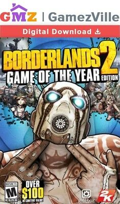 Borderlands 2 Game Of The Year Edition Steam Key PC Digital Download