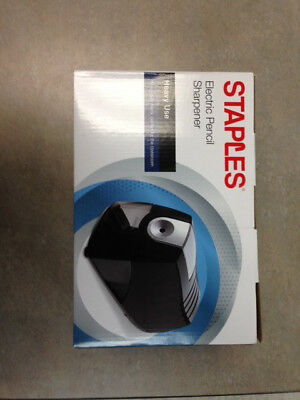 Staples Power Extreme Electric Pencil Sharpener Heavy-Duty Black Open Box New