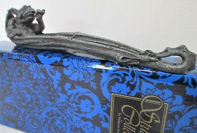 """New In Box Reclining GOTHIC GARGOYLE 10"""" Candle INCENSE BURNER With Holder SALE"""