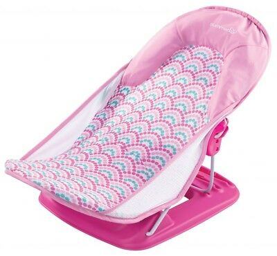 Summer Infant Deluxe Travel Baby Bather PINK Bath Support Seat Beach Chair NEW
