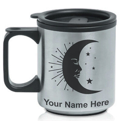 Personalized Custom Coffee Travel Mug - Moon