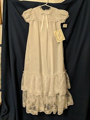 Vintage Christening Gown w/Undergarment Petticoat Original Hang Tags Lotsa Lace