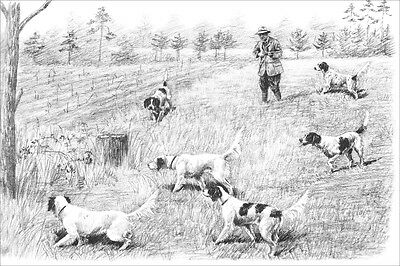Hunting Dogs Pointers & Setters / Marguerite Kirmse 1935 8 New Blank Note Cards