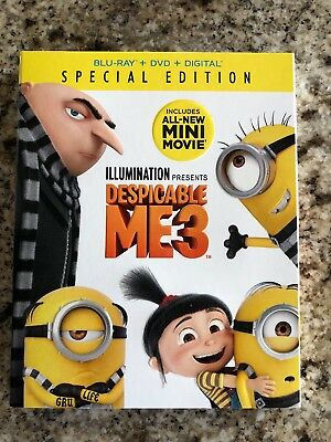 Despicable Me 3 Special Edition Steve Carell {2017} {Blu-ray,DVD) FREE Shipping
