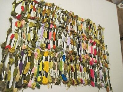 137 NEW Skeins DMC/ANCHOR & More Six Strand Embroidery Floss  Pretty Colors!!
