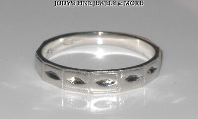 MAGNIFICENT ESTATE 14K WHITE GOLD 4 mm WIDE BRUSHED RING WEDDING BAND SIZE 7.75