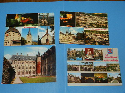 Lot4 Cartes Postales Luxembourg