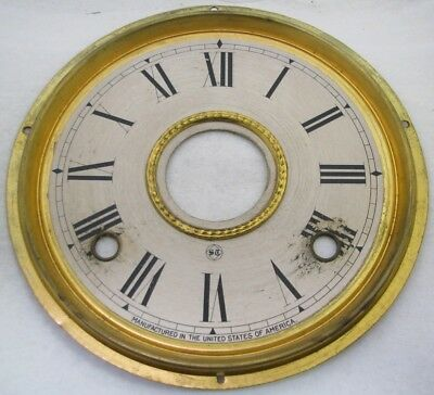 Antique Seth Thomas Kitchen Parlor Clock Dial & Pan Parts Repair