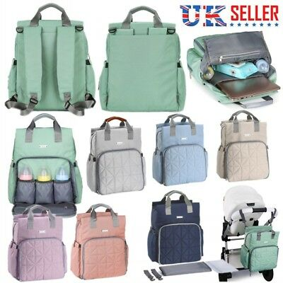 Multifunctional Mummy Bag Waterproof Baby Changing Nappy Diaper Large Backpack