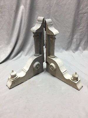 Pair Antique Wood Corbels Roof Brackets Victorian Shabby Shelf Vintage 482-18C