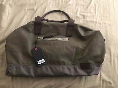 Nixon Nwt Holdem Duffle Bag Falcon Canvas And Leather Duffel