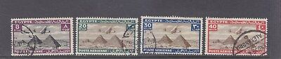 EGYPT-1933-AIR MAIL STAMPS X 4-SG 201/04/05/06-FINE USED-$8-freepost