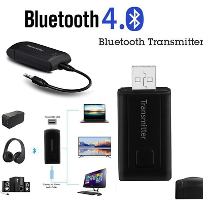 Wireless Bluetooth Transmitter Receiver Adapter Stereo Audio Music Stereo