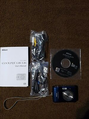 Nikon COOLPIX L18 8.0MP Digital Camera - Blue W/ accessories/ NICE