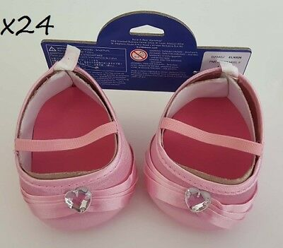 x24 Build A Pink Heart Gem High Heels Teddy Bear Fancy Shoes WholeSale Party Lot