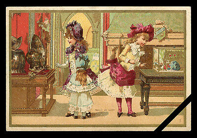 Original French Victorian Trade Card Antique Early 1900's Paris France
