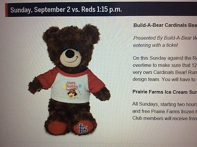 c09f10425b7 STAN MUSIAL ST Louis Cardinals Build-A-Bear Workshop Bear SGA ...
