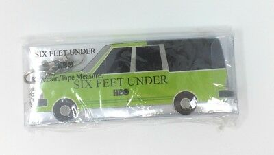 SIX FEET UNDER Keychain Tape Measure HBO Promotional Item NEW INSIDE PACK