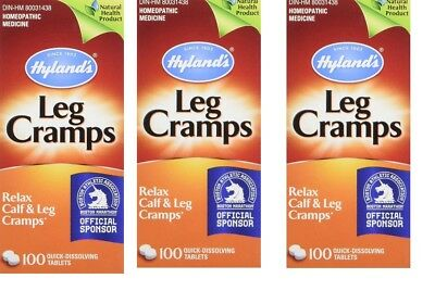 3 Pack Hyland's Leg Cramps, Relax Calf & Foot Cramps- 100 Tablets Each