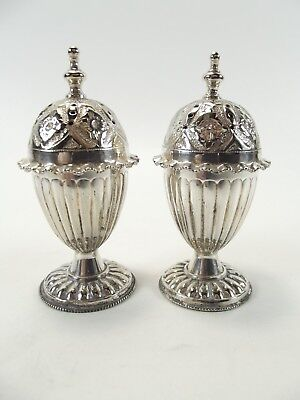 Pair Of Antique White Pepper Pots Ref 101/7