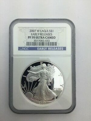 2007-W Proof American Silver Eagle NGC PF70 UCAM Early Release