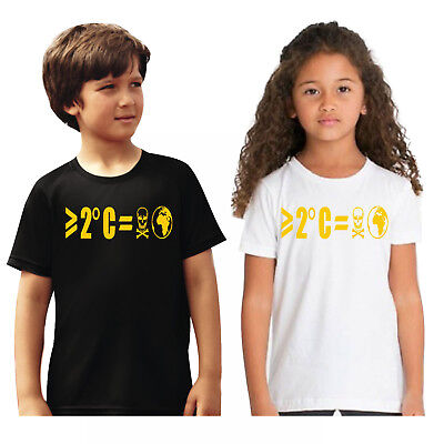 Kids Greater Than 2 Degrees C = Poisoned Earth Global Warming Climate T Shirt