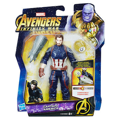 Marvel Avengers Infinity War 6 Inch Captain America Figure With Infinity Stone