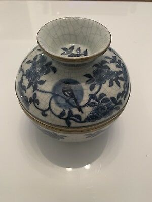 Antique Small Bowl With Cover