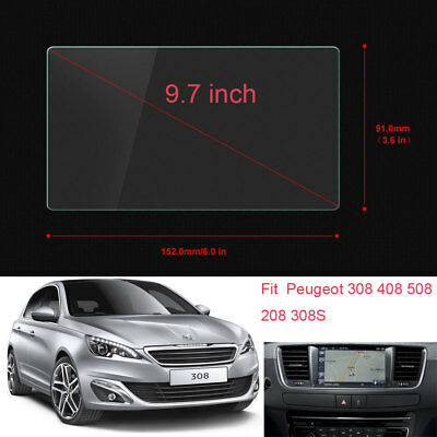"9.7"" Car GPS Screen Navigation Protectors Film For Peugeot 308 408 508 208 308S"