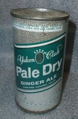 old Yukon Club Pale Dry Ginger Ale flat top soda can