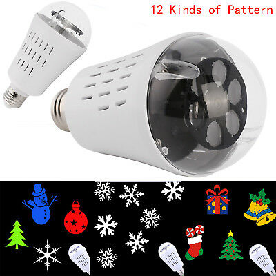 E26/E27 LED Projection Rotating Stage Bulb Crystal Light Xmas Party Lamp ST0076