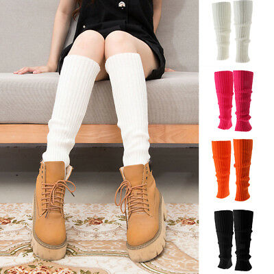 Women's Fashion Knitted Ribbed Leg Warmers Legwarmers Crochet Boot Cover